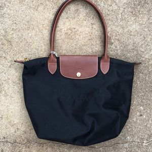 Black Longchamp Le Pilage Bag